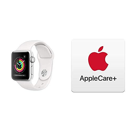 AppleWatchSeries3 (GPS) conCaja de 38mm de Aluminio enPlata yCorrea Deportiva  - Blanca con AppleCare+