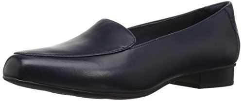 Clarks Women's Juliet Lora Loafer, Navy Leather, 080 W US