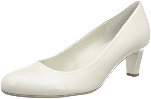 Gabor Shoes Damen Basic Pumps, Weiß (Off-White+Absatz), 39 EU