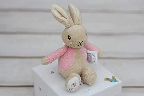 Arc en ciel Designs 19cm Peluche Bean Rattle Peter Rabbit ou Flopsy (fourni)