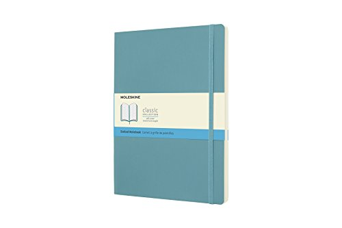 Moleskine Classic Notebook, Soft Cover, XL (7.5' x 9.5') Dotted, Reef Blue