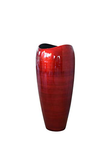 Vivanno Pflanzkübel Pflanzgefäß Bodenvase exklusiv Deluxe Rot Schwarz Hochglanz 81 x 37 cm