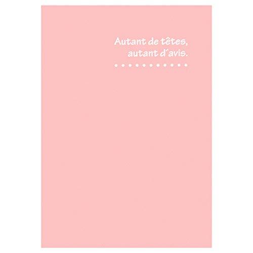 HAKUBA 写真台紙 ランス ドゥ ポストカードサイズ 2面(タテ・タテ) ピンク