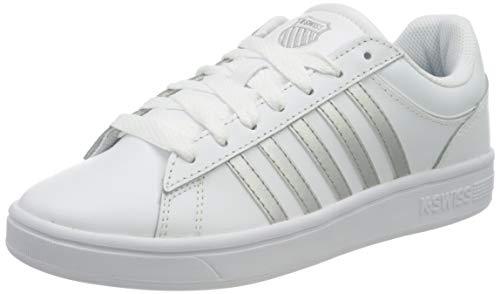 K-Swiss Court Winston, Zapatillas Mujer, Blanco/Blanco/Plata, 35.5 EU