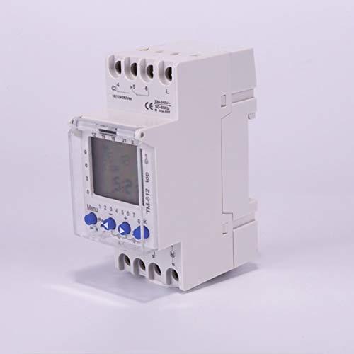 Timetided 220V TM612 Temporizador de 2 Canales 7 d¨ªas 24 Horas Interruptor de Tiempo Digital LCD electr¨Nico programable con 2 Salidas de rel¨¦