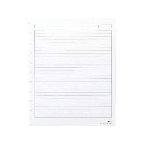 Staples? Arc Notebook Filler Paper, Letter-Size, Narrow-Ruled, White, 8 1/2' x 11', 50 Sheets