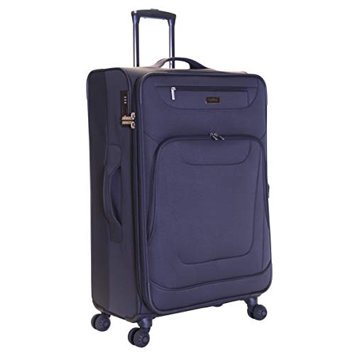 Karabar Extra Large Expandable Suitcase Luggage Bag Lightweight XL 78 cm 4.2 kg 105 litres Soft Shell with 4 Spinner Wheels and Integrated TSA Number Lock, Mayfair Grey