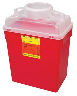 Max 64% OFF BD 6 Gal. Multi-Use Popular popular Nestable Collector Natural Base Sharps Red