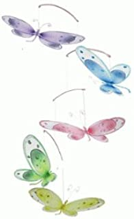 The Butterfly Grove Avery Dragonfly Nursery Mobile 3D Hanging Mesh Nylon Decor for Baby, Multicolored