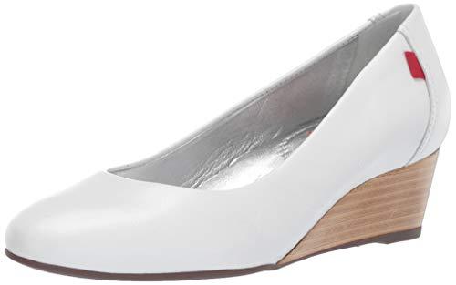 Marc Joseph New York Zapato de tacón de cuña para mujer, fabricado en Brasil Cooper, Blanco (Blanco (White Kid Nappa)), 35.5 EU