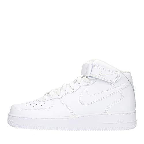Nike Air Force 1 Mid '07, Zapatillas de bsquetbol Hombre, Blanco, 52.5 EU
