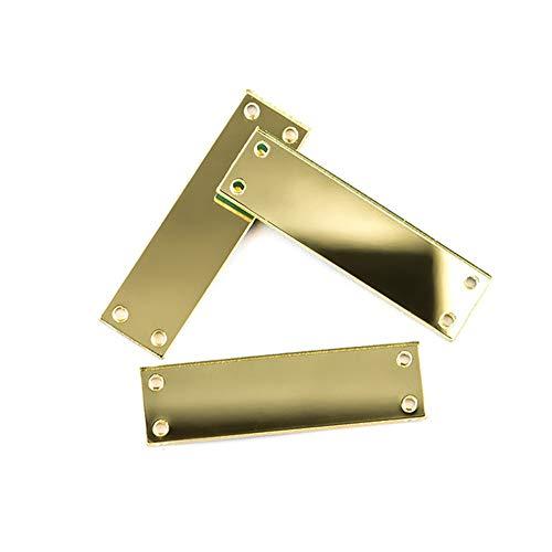 50 stks Naaien Op Goud Kristal Spiegel Strass Onregelmatige Acryl Spiegel Naai Op Stenen Kristal Strass Rectangle 10x35MM Gold Mirror
