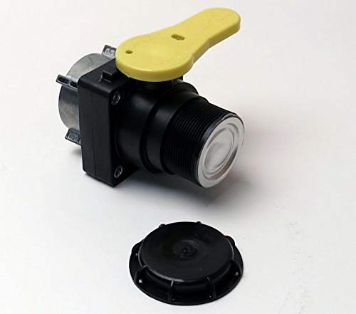 Mauser Polypropylene Ball Valve for IBC containers has a 2 inch NPT Male Outlet