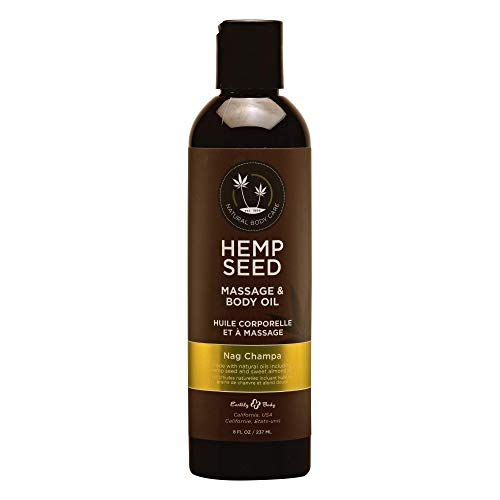 Blue Parrot Earthly Body Hemp Seed [Nag Champa] Massage & Body 100% Natural Oil: Size 8 Oz