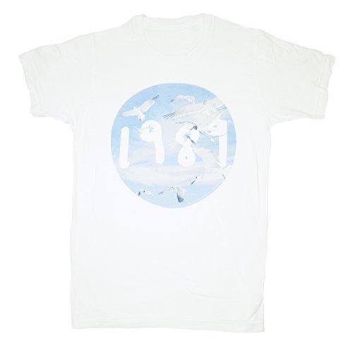 Taylor Swift 1989 Seagull White Circle Tee T-shirt Adult Unisex (XL)
