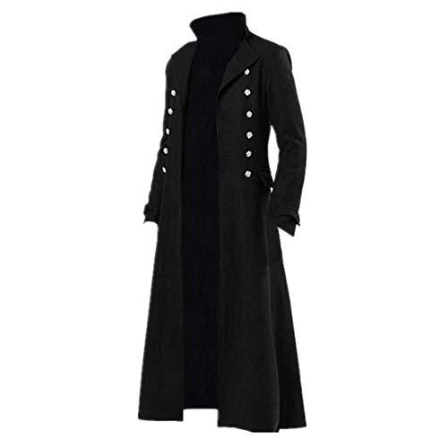 Chaqueta gótica Steampunk vintage victoriana Frock abrigo uniforme disfraz medieval pirata vikingo, abrigo formal de esmoquin