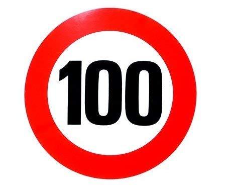 HSK zeefdruk sticker Tempolimit 100