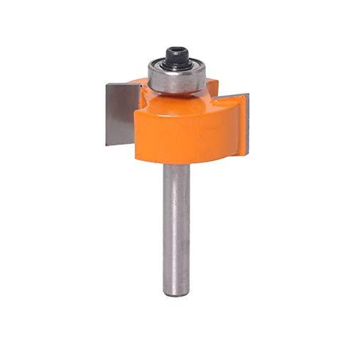1pc 6 mm Vástago de la Galleta T Ranura Router bit de Madera con la Tapa de cojinete C3 carburo Que Ranura/Tratamiento de la Madera for Juntas Fresa (tamaño : NO5)