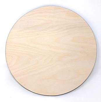 Gocutouts 12  Wooden Circle 1/4  Thick Cutouts Package of 6 Baltic Birch Circles  12  1/4 Package of 6