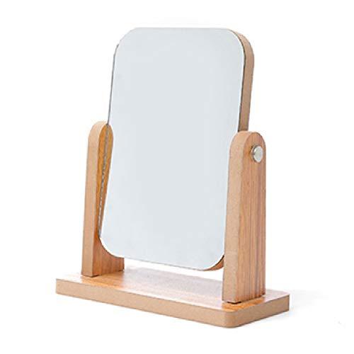 Miroir de Maquillage Simple Face Rotatif en Bois Massif,A,13 * 18CM