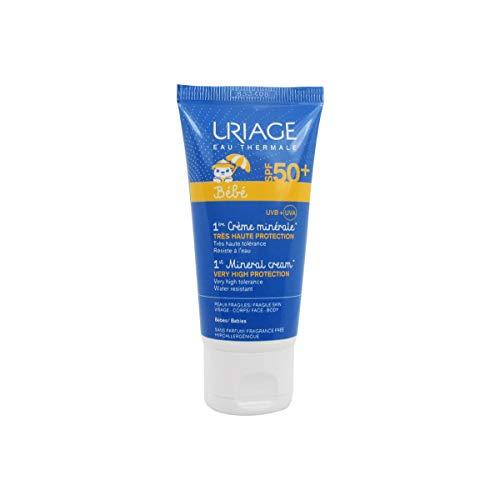 avis creme solaire bebe professionnel Uriage – Crème minérale à très haut degré de protection Spf50 + 50 ml Uriage pour peau sensible de bébé
