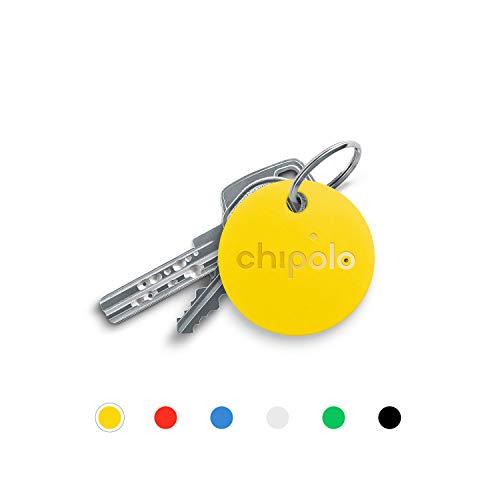 Chipolo CLASSIC - Trova Chiavi e Trova Telefono Bluetooth - Con batteria sostituibile (Giallo)