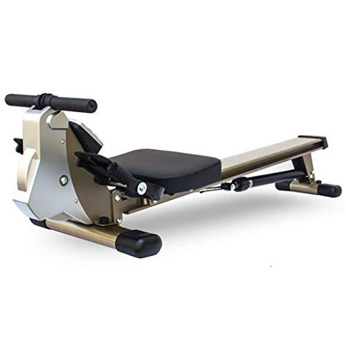 XBSLJ Rudergerâte für zuhause Rudergeräte faltbar, Fitness-Rudergerät mit 12 Hydraulic Resistance Progress Tracking, Übungs-Rudergerät zur Gewichtsreduktion für den Heimgebrauch, Silbergrau