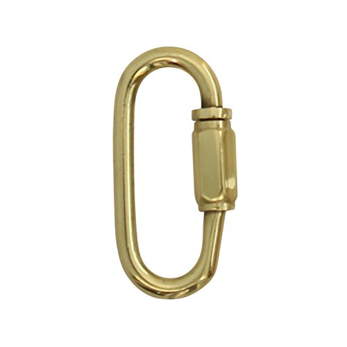 RCH Hardware QL-BR01-47 Brass Quick Link, 8 Gauge, Polished Brass (2 Pack)