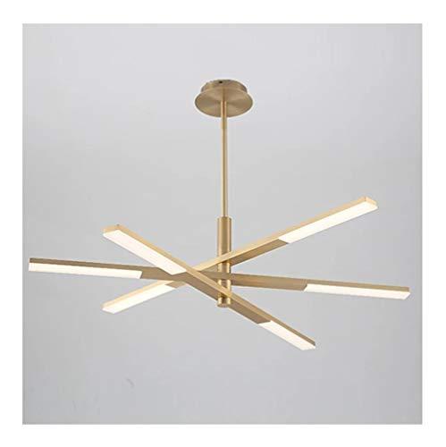 Chandeliers 6-Light 35 cm Sputnik Design Chandelier Aluminum Electroplated / Painted Finishes Artistic / Nordic Style Generic ( Color : Gold )