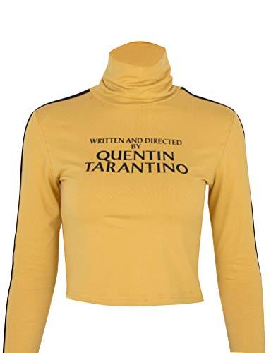 YUHX Quentin Tarantino Top de Mujer de la Cosecha de Carta de Alta Tortuga Collar de Manga Larga Camiseta
