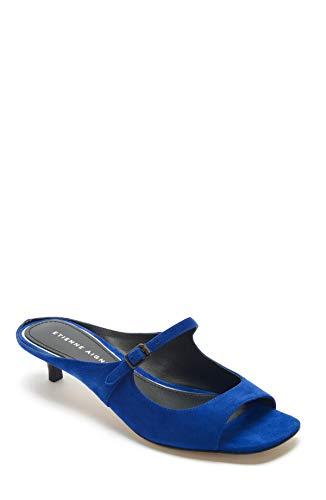 Etienne Aigner Damen Verity – Leder Peep Toe Kitten Heel, Blau (indigo), 38.5 EU