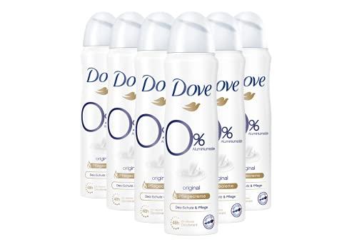 Dove Deospray Damen 6er Pack Original 0% Alkohol Antitranspirant 48 Stunden Schutz (6 x 150 ml)