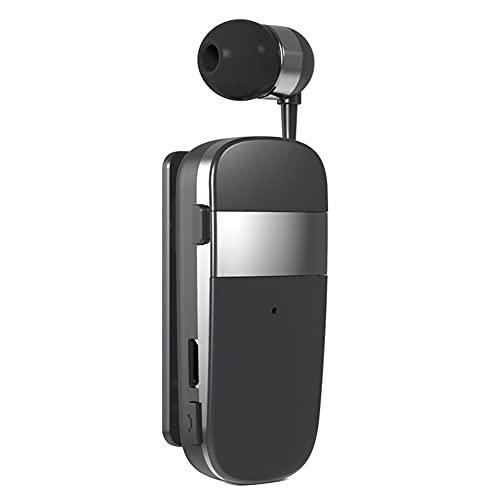 Cuffie Bluetooth 5.0,MoreChioce Auricolare Bluetooth Senza Fili Retrattile Cuffie Auricolari con Cancellazione del Rumore Cuffie Wireless Auricolari Cuffie Bluetooth nell'orecchio,10m,Grigio,k53