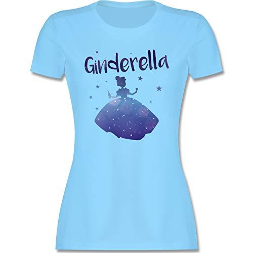 Typisch Frauen - Ginderella - S - Hellblau - t-Shirt mit Spruch - L191 - Tailliertes Tshirt für Damen und Frauen T-Shirt