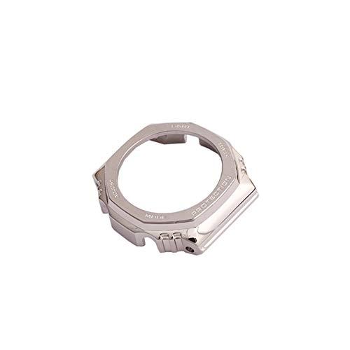 HGGFA Correa de acero inoxidable para reloj deportivo GA2100 GA-2110 (color de la correa: caja 1, ancho de la correa: GA2100)