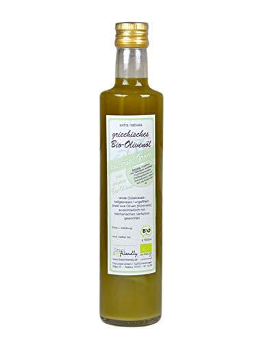 direct&friendly Neue Ernte November 2020 Griechisches Bio Olivenöl 0,24% Säure Unser Grünes naturtrüb extra nativ (500 ml)