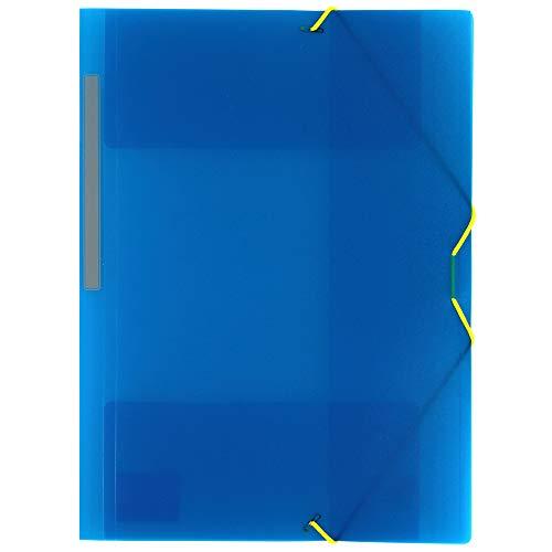 Grafoplás 4801230Sammelmappe mit Gummizug und 3Klappen, A4, blau
