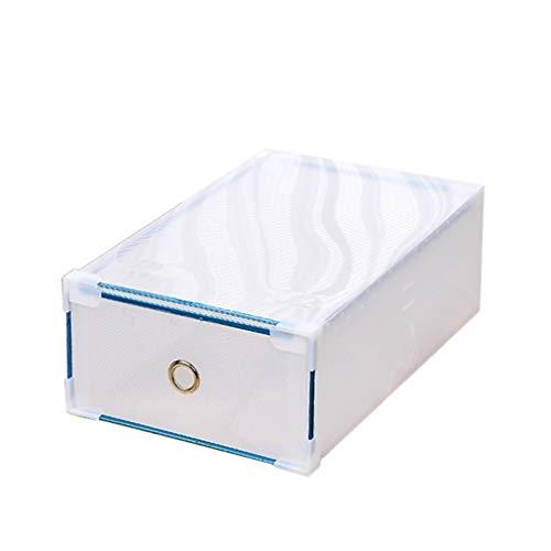 ZDZQTM 6 Colores de Zapatos de plástico Caja de Almacenamiento de Caja de la Caja de Zapatos Tipo cajón apilable portátil del Color del Caramelo Organizador Ahorrar Espacio Caja de Zapatos