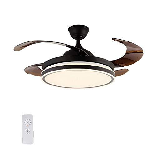 Iyom IyomVentiladores de Techo Luces de Ventilador ultrafinas, Luces Invisibles, utilizadas en la Sala de Estar, Dormitorio, Comedor, Regulables en Tres Colores, silenciosas y estables