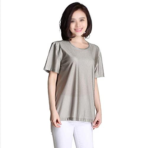 T-Shirt Anti-radiación Vestido De Maternidad Mujeres Embarazadas Cargando Cubierta Protectora Ropa Protectora Fibra De Plata 360°Protección De Radiación(Size:XX-Large,Color:Grey)