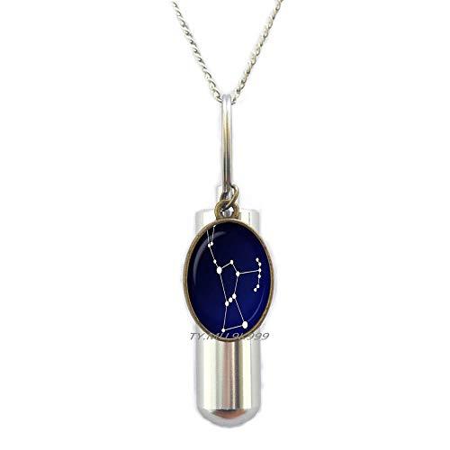Yaaoiidirrnzaxkcc Orion Sternbild Glasurne Nachthimmel Einäscherung Urne Halskette Sterne, Astronomie, Weltraumschmuck, Glas-Cabochon Urne Y202