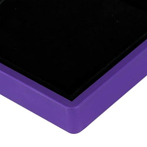 Vitrina de luz LED, Joyero LED, Caja de Anillo, Bodas no tóxicas para Aniversario de Compromiso de propuesta(Purple)