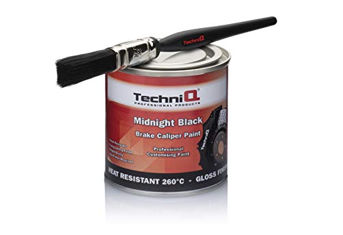 "TechniQ Bremssattelfarbe ""Midnight Black"" (glänzend), 250 ml, Pinsel"