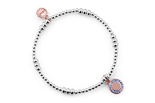 Lizas Schmuckarmband silber Perlenarmband Armband verschiedene Modelle (silber mit rosegold)