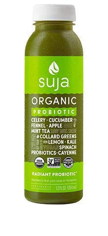 Suja Organic Essentials Radiant Probiotic Vegetable & Fruit Juice 12 ounce (Pack of 6)