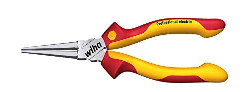 Wiha Langbeck-Rundzange Professional electric (26735) 160 mm Zange für Elektriker, VDE geprüft, stückgeprüft, stabil und robust
