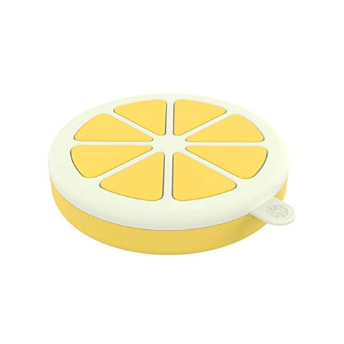 GLADMIN Ice Cream Mould Silicone Ice Tray Homemade Ice Cream Maker Ice Mould Lemon Shape Kitchen Gadget Accessories Ice Box With Cover (Color : Yellow)