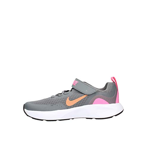 Nike Wearallday PS Deportivas Chicas Gris/Rosa - 34 - Multideporte Shoes