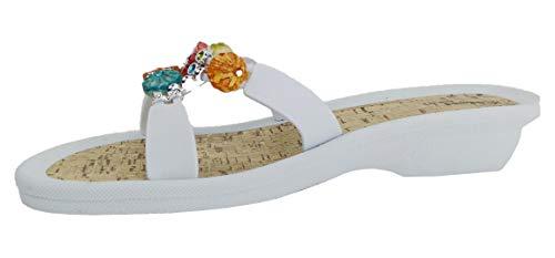 Linea Scarpa Pantolette Hydra Badeschuh Damen mit Absatz: Größe: 41 EU   Farbe: Weiß