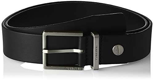 Calvin Klein Casual Adj. Belt 3.5cm Cintura, Nero (Black 001), 4 (Taglia Produttore: 80) Uomo